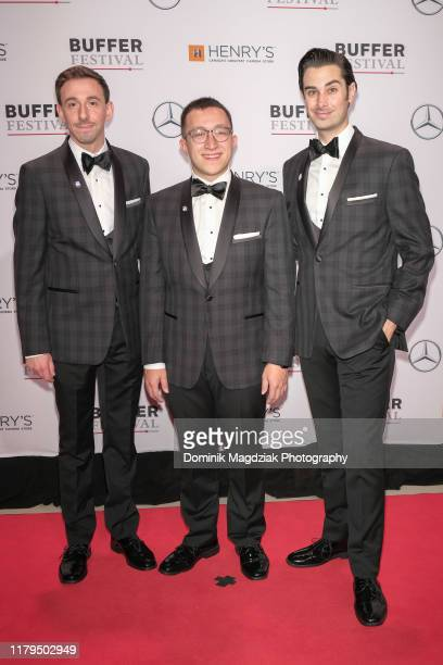 Content creators Brian Rosenthal, Corey Lubowich and Joey Richter attend the 7th Annual Buffer Festival Gala Awards Show red carpet at TIFF Bell...