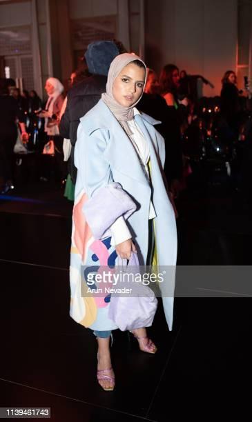 Content curator and designer Aya Barqawi attends Jordan Fashion Week 019 on March 30 2019 at the Kempinski Amman in Amman Jordan