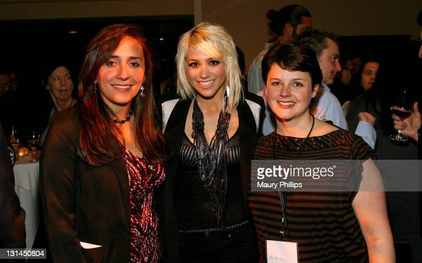 Content Director Coumbia Initiative Carolina Sandoval, singer BC Jean and evp director insight strategy Sarah Power attend 7 C's over 7 Seas...