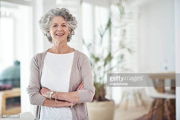 Content in her golden years