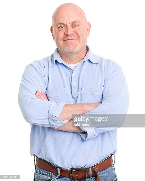 content man portrait - long sleeved stock photos and pictures