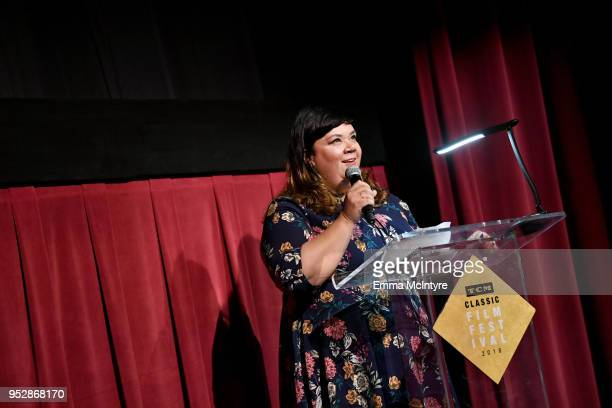 Content Manager Turner Classic Movies and FilmStruck Millie De Chirico speaks onstage at the screening of 'Finishing School' during day 4 of the 2018...