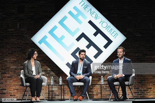 Content Marketing Director of The New Yorker Kerri Mason CEO of Beautiful Destinations Jeremy Jauncey and CEO of NYC Co Fred Dixon speak onstage...