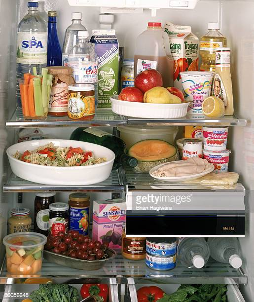 contents of a refrigerator - full stock pictures, royalty-free photos & images
