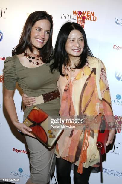 Contessa Brewer and Vivienne Tam attend WOMEN IN THE WORLD Summit at Hudson Theatre on March 12 2010 in New York