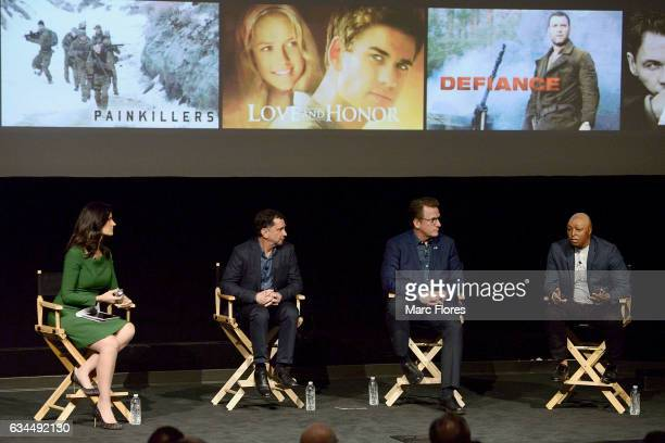 Contessa Brewer David Gale Scott Williams and JR Martinez speak at Hollywood Bridging The Military Civilian Divide at Paramount Pictures on February...