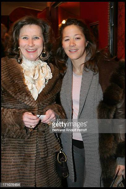 Contesse Eric De Gourcuff and daughter Diane De Gourcuff at The Paris Production Of The Show Une Comedie Romantique At The Theatre Montparnasse In...