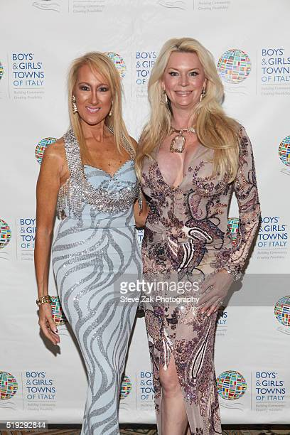 Contessina Francesca Braschi and Jackie Siegal attend The Boys' Girls' Towns of Italy's 2016 New York Spring Ball at The Pierre Hotel on April 5 2016...