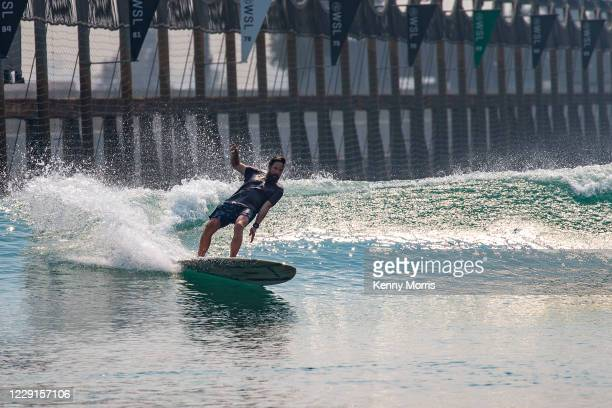 Contest Director Devon Howard of the USA surfing in the Agave Session at the Cuervo Surf Ranch Classic at The Surf Ranch in Lemoore on October 2,...