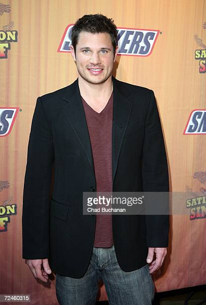 Contest judge Nick Lachey attends the finals of Snickers Satisfaction SingOff at the House of Blues on November 8 2006 in West Hollywood California