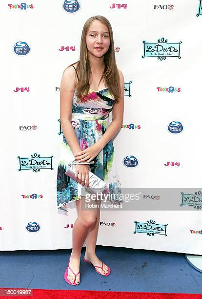 Contest winner Karina Rogers attends La Dee Da Official Launch Event at Times Square on August 9 2012 in New York City