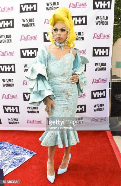 Contestant Aja attends 'RuPaul's Drag Race' Season 9 Finale Taping at Alex Theatre on June 9 2017 in Glendale California
