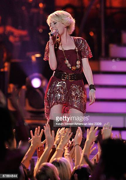 Contestant Alexis Grace performs onstage during the American Idol Season 8 Grand Finale held at Nokia Theatre LA Live on May 20 2009 in Los Angeles...