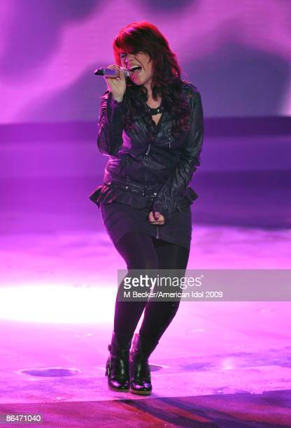 ACCESS*** Contestant Allison Iraheta performs during the American Idol Season 8 Top 4 Elimination Show on May 6 2009 in Los Angeles California