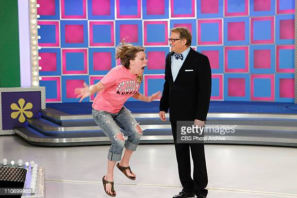 Contestant Amanda Brown, and Host of THE PRICE IS RIGHT Drew Carey during a Spring Break themed episode of CBS' Emmy Award-winning THE PRICE IS RIGHT...