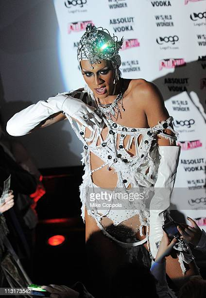 Contestant and winner Raja performs at Logo's 'RuPaul's Drag Race' New York City season finale party at Providence on April 25 2011 in New York City