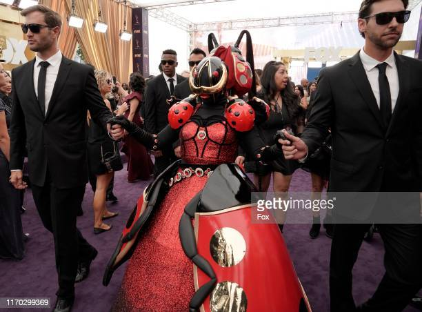 SINGER contestant attends FOXS LIVE EMMY RED CARPET PRESHOW during the 71ST PRIMETIME EMMY AWARDS airing live from the Microsoft Theater at LA LIVE...