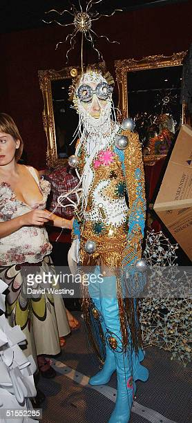 A contestant attends the 'Alternative Miss World' the Club Cirque on October 22 2004 in London A panel of judges choose one winner from fifteen...