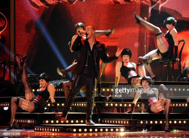 Contestant Carlito Olivero performs on FOX's 'The X Factor' Season 3 Top 8 Live Performance Show on November 27 2013 in Hollywood California