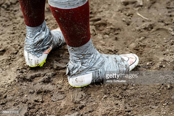 Contestant compete during the 8th mud soccer championship on August 6 2016 in Woellnau near Leipzig Germany Legend has it that a Finnish officer sent...