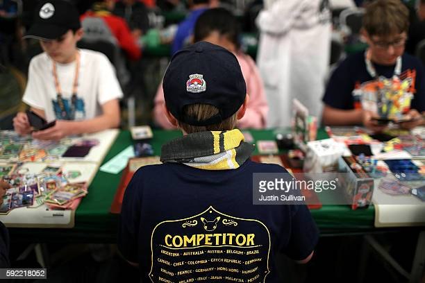 A contestant competes during the 2016 Pokemon World Championships on August 19 2016 in San Francisco California Over 1600 contestants from more than...