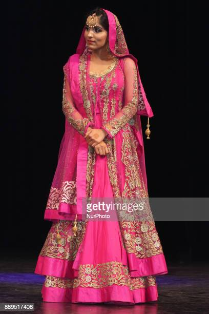 Contestant competes during the Miss World Punjaban beauty pageant held in Mississauga Ontario Canada on 11 November 2017 Contestants from around the...
