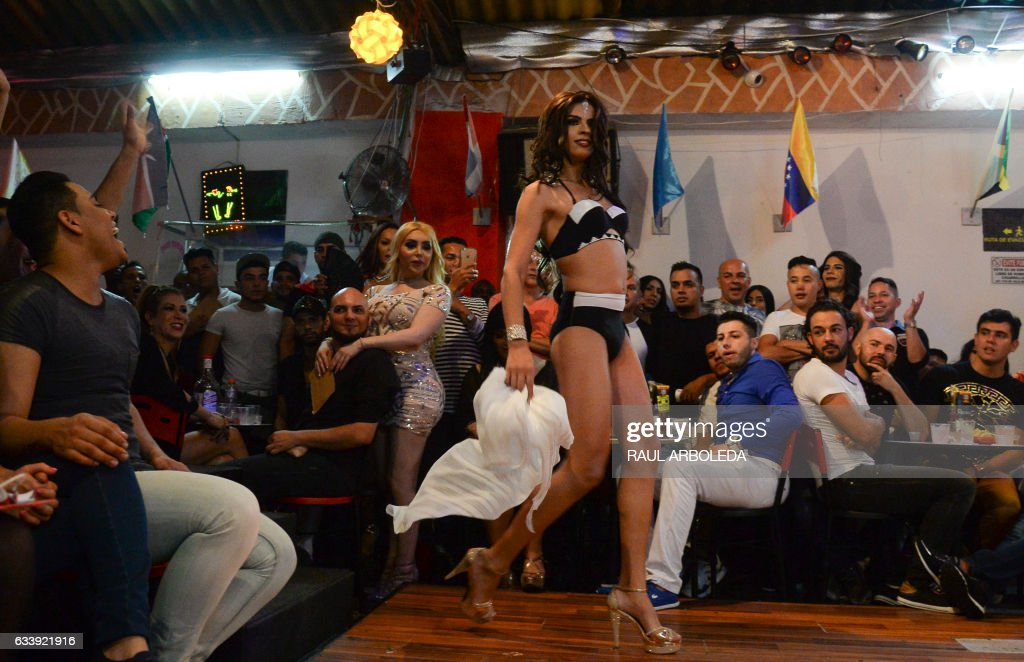 Contestant Competes In The First Miss Universe Gay 2017 Pageant In Medellin Antioquia Department