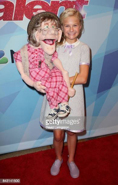 Contestant Darci Lynne attends NBC's America's Got Talent Season 12 live show at Dolby Theatre on September 5 2017 in Hollywood California