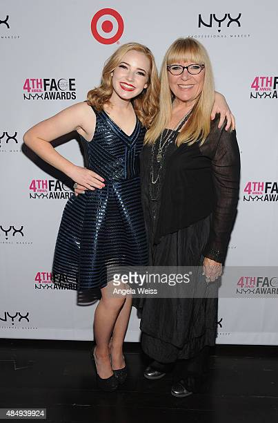 Contestant Erin Timony and judge Ve Neill attend the 4th Annual NYX FACE Awards at Club Nokia on August 22 2015 in Los Angeles California