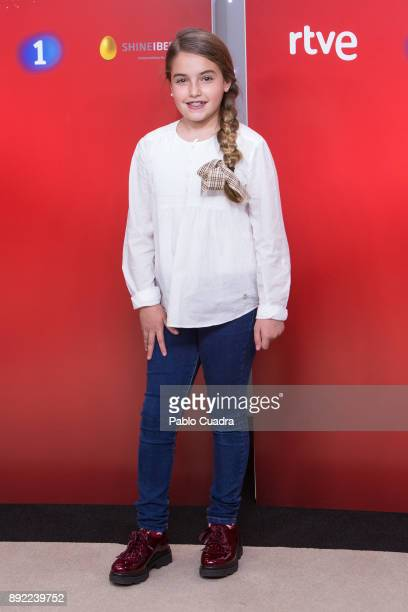 Contestant Esther attends the presentation of a new seson of 'Masterchef Junior' at TVE studios on December 14 2017 in Madrid Spain