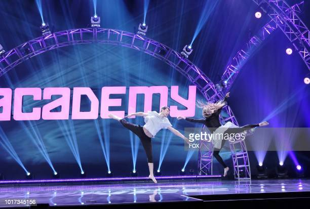 Contestant Evan De Benedetto and All Star Allison Holker perform a dance routine during academy week airing Monday July 30 on FOX