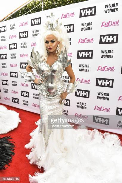 Contestant Farrah Moan attends 'RuPaul's Drag Race' Season 9 Finale Taping at Alex Theatre on June 9 2017 in Glendale California