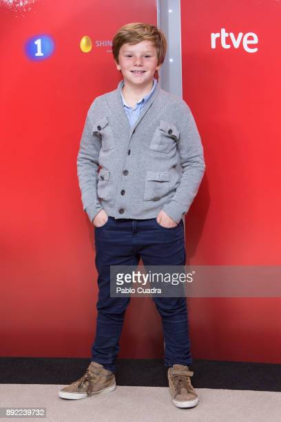 Contestant Fernando attends the presentation of a new seson of 'Masterchef Junior' at TVE studios on December 14 2017 in Madrid Spain
