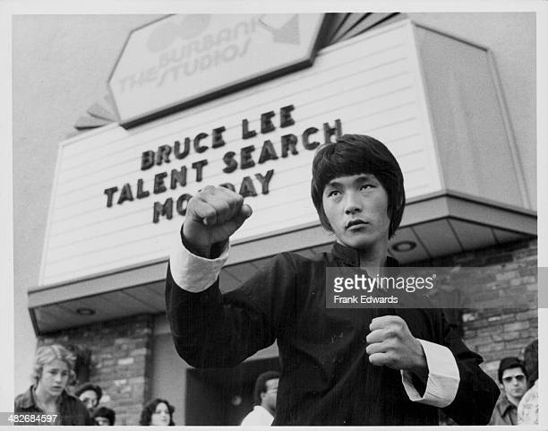 A contestant in the Bruce Lee Talent Search Competition at Burbank Studios California circa 19751980