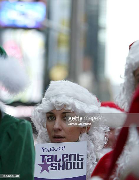 Contestant in the Yahoo Talent Search Finals during Yahoo! Talent Show Santa Challenge at Hard Rock Cafe in New York City, New York, United States.