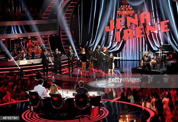 Contestant Jena Irene performs onstage at FOX's 'American Idol XIII' Top 5 Live Performance Show on April 30 2014 in Hollywood California