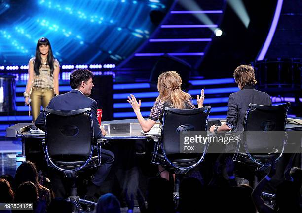 Contestant Jena Irene performs onstage at FOX's 'American Idol XIII' Top 2 Live Performance Show on May 20 2014 at Nokia Theatre LA Live in Los...