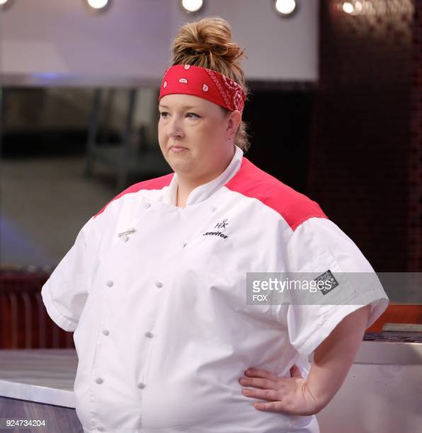 Contestant Jennifer in the allnew Five Is The New Black episode of HELLS KITCHEN airing Friday Jan 12 on FOX
