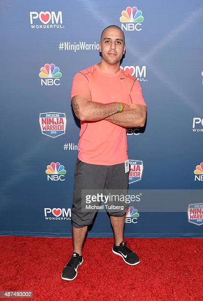 Contestant Joe Calderon attends NBC's 'American Ninja Warrior' Season 7 Finale at The Autry National Center on September 9 2015 in Los Angeles...