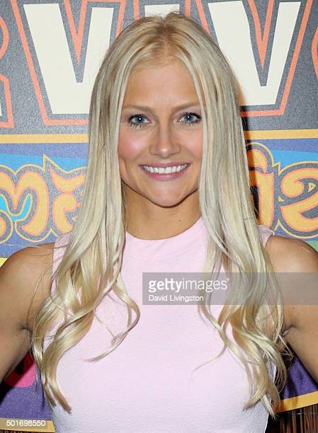 Contestant Kelley Wentworth attends CBS's Survivor Cambodia Second Chance photo op at CBS Televison City on December 16 2015 in Los Angeles California