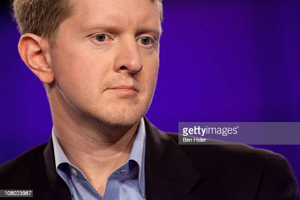 Contestant Ken Jennings attends a press conference to discuss the upcoming Man V Machine Jeopardy competition at the IBM TJ Watson Research Center on...