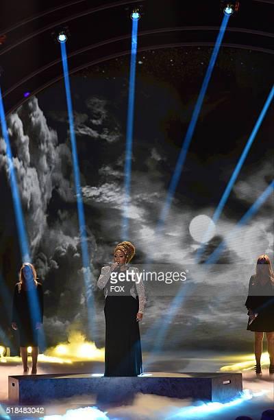 Contestant La'Porsha Renae performs onstage at FOX's American Idol Season 15 on March 31, 2016 in Hollywood, California.