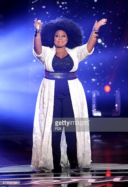 Contestant La'Porsha Renae performs onstage at FOX's American Idol Season 15 on April 6, 2016 at the Dolby Theatre in Hollywood, California.