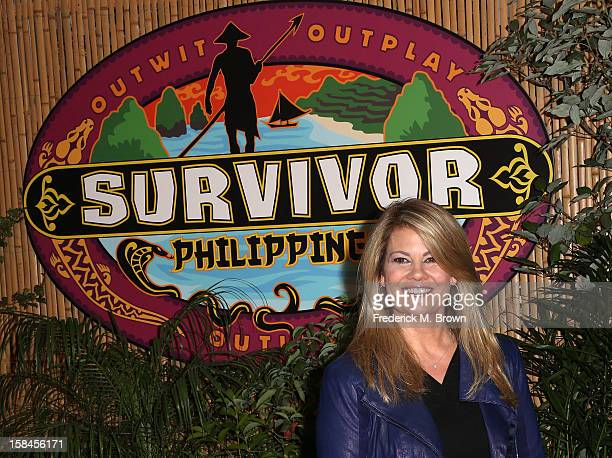 """Contestant Lisa Whelchel attends CBS' """"Survivor: Philippines"""" Finale & Reunion Red Carpet at CBS Television City on December 16, 2012 in Los Angeles,..."""