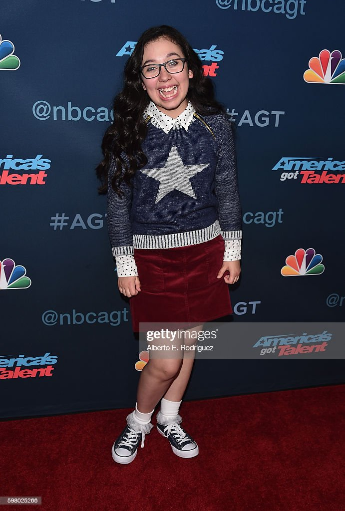 Contestant Lori Mae Hernandez attends the 'America's Got Talent' Season 11 Live Show at The Dolby Theatre on August 30, 2016 in Hollywood, California.