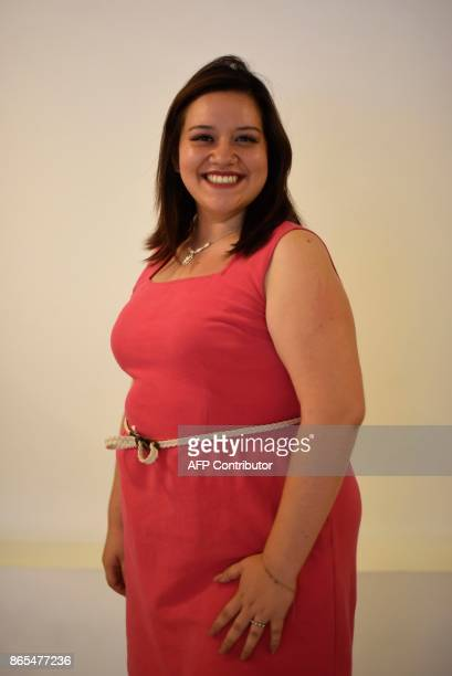 Contestant Melissa Cifuentes poses during a rehearsal for the first Miss Plus Size Guatemala beauty contest in Guatemala City on October 22 2017 Miss...