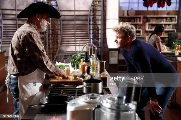 Contestant Newton and host / judge Gordon Ramsay in the Silenced By The Lambs episode of MASTERCHEF airing Wednesday July 12 on FOX