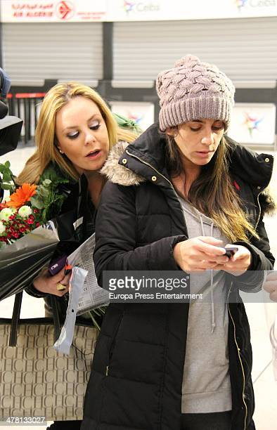 Contestant of 'Supervivientes 2014' Tv show Anabel Pantoja is seen at Barajas Airport to travel to Honduras to shoot the Tv show on March 12 2014 in...
