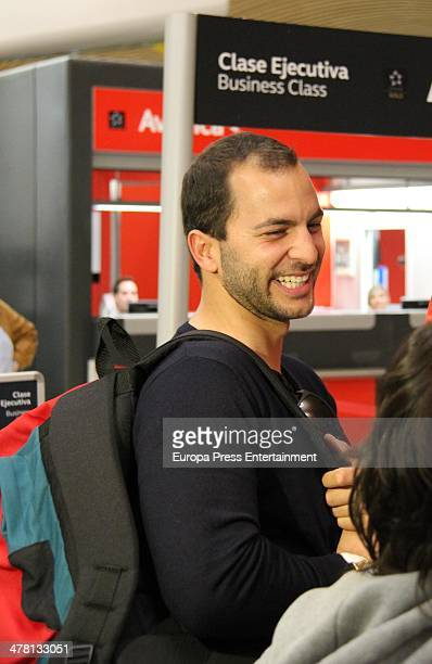 Contestant of 'Supervivientes 2014' Tv show Antonio Tejado is seen at Barajas Airport to travel to Honduras to shoot the Tv show on March 12 2014 in...