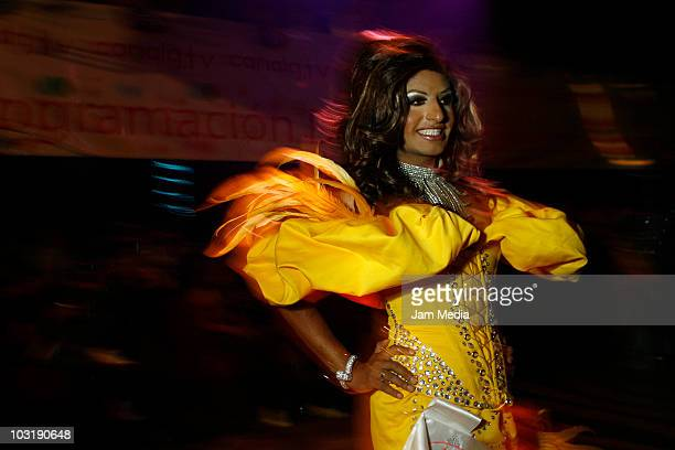 A contestant of Tlaxcala State during the 2010 Gay Beauty Contest at Hysteria Discotheque on July 31 2010 in Mexico City Mexico